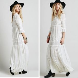 Free People White Romance Boho Wedding maxi (S)